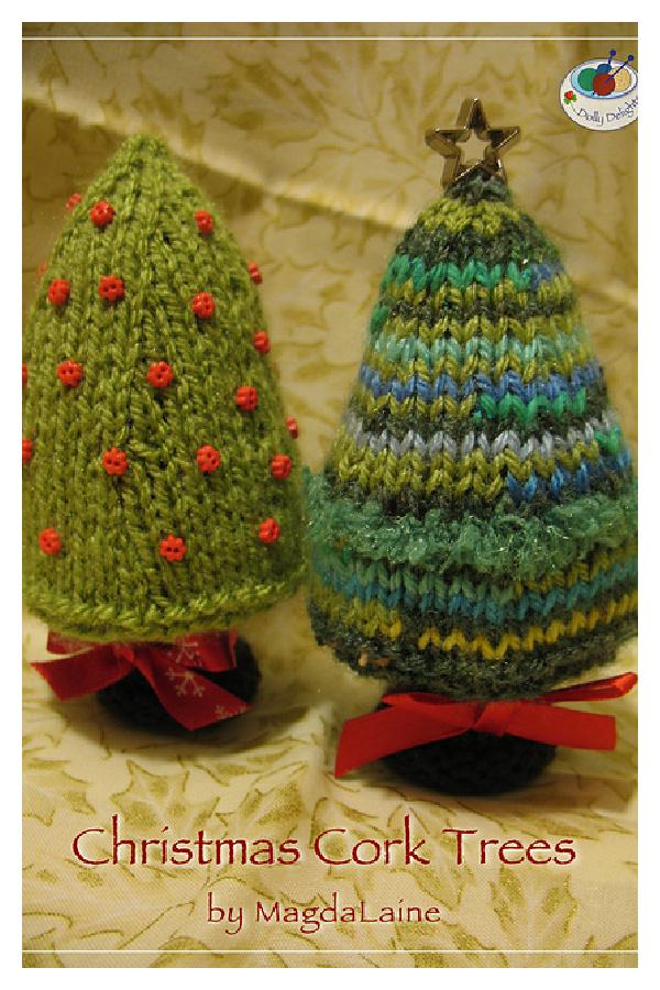 Christmas Cork Trees Free Knitting Pattern