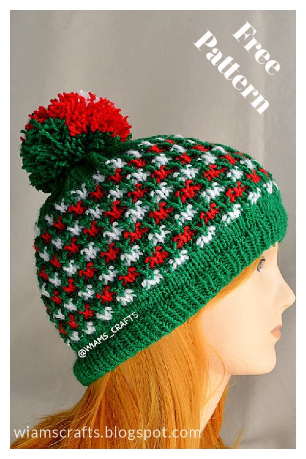 Christmas Lights Hat Free Knitting Pattern