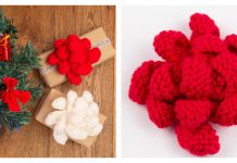 Christmas Present Bows Free Knitting Pattern