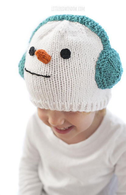 Cozy Snowman Hat Free Knitting Pattern