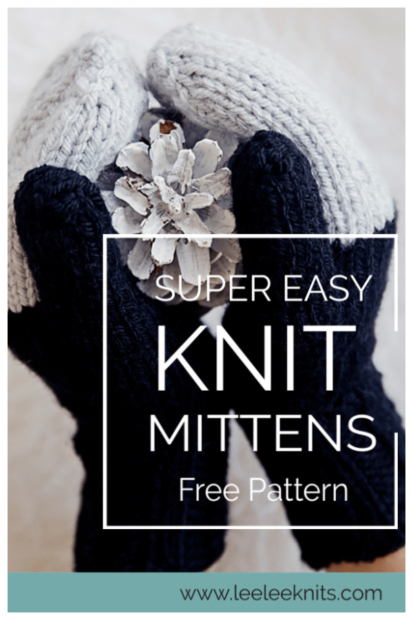 Easy Mittens Free Knitting Pattern
