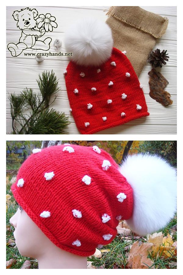 Fabulous Christmas Hat Free Knitting Pattern