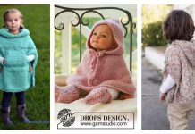 Hooded Baby Poncho Knitting Patterns
