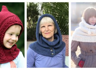 Hooded Cowl Knitting Patterns