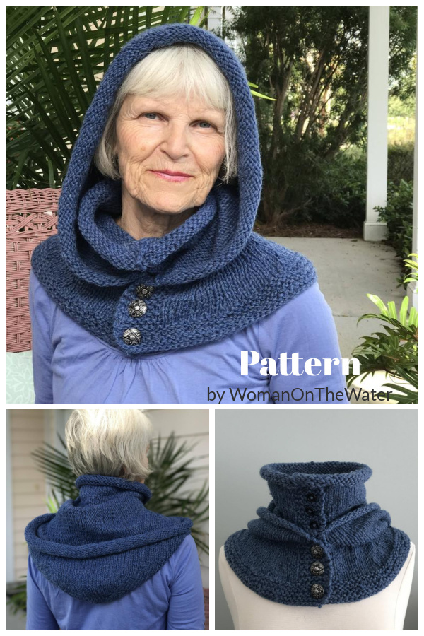 Hooded Double Cowl Knitting Pattern