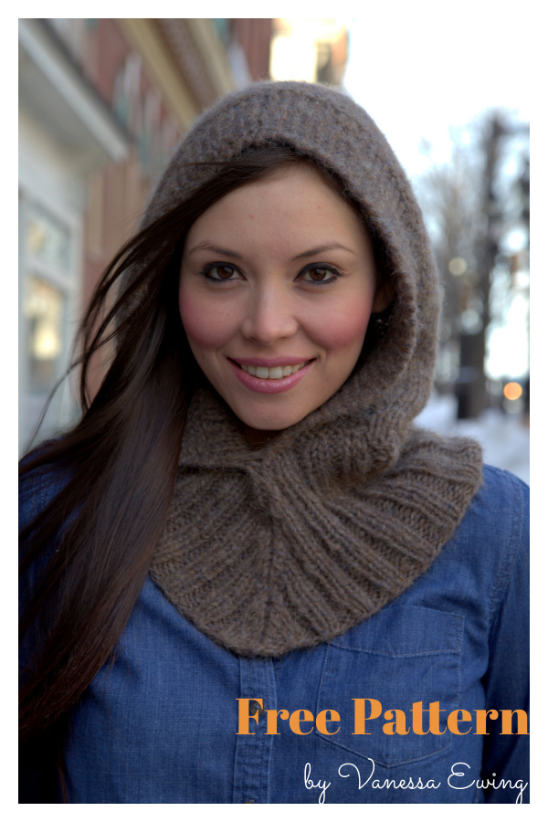 Hooded Neckwarmer Free Knitting Pattern