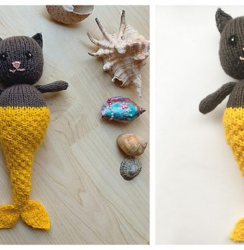 Mermaid Cat Free Knitting Pattern
