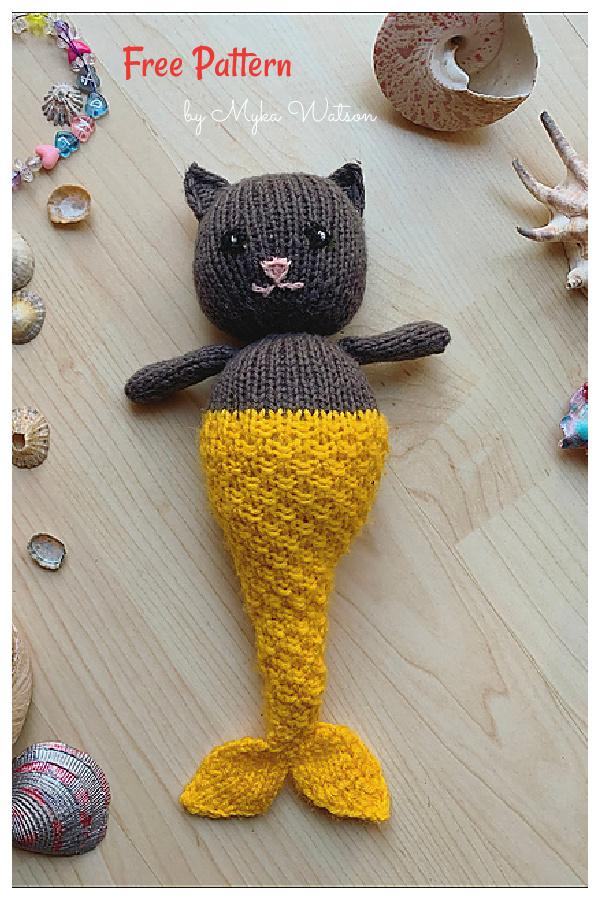 Mermaid Cat Free Knitting Pattern