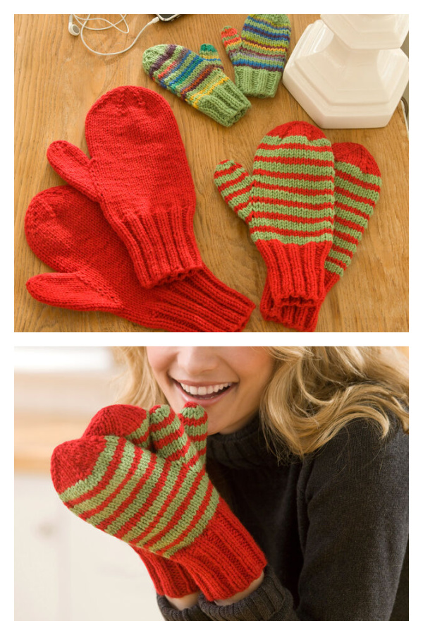 Mittens for All Free Knitting Pattern and Video Tutorial