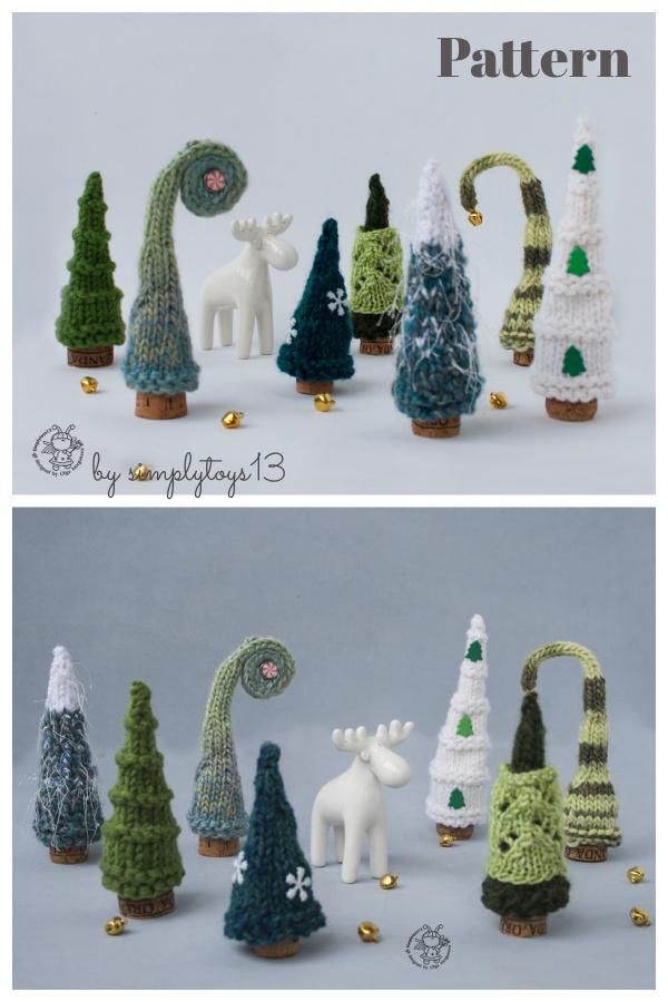 Pine Christmas Trees Knitting Pattern