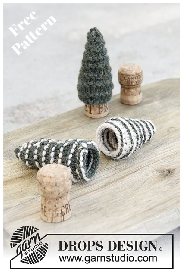 Season's Treat Cork Trees Free Knitting Pattern