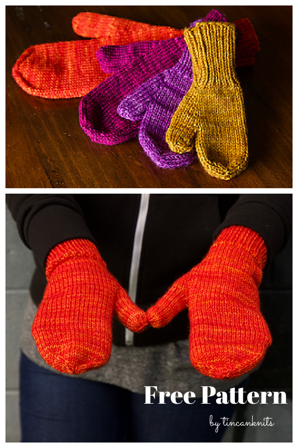 The World's Simplest Mittens Free Knitting Pattern