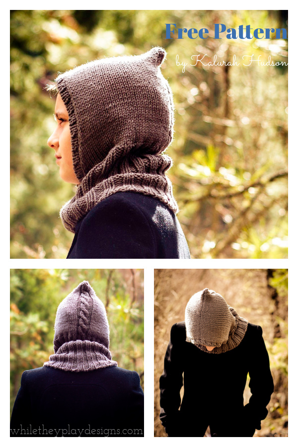 Through the Woods Hoodlet Free Knitting Pattern