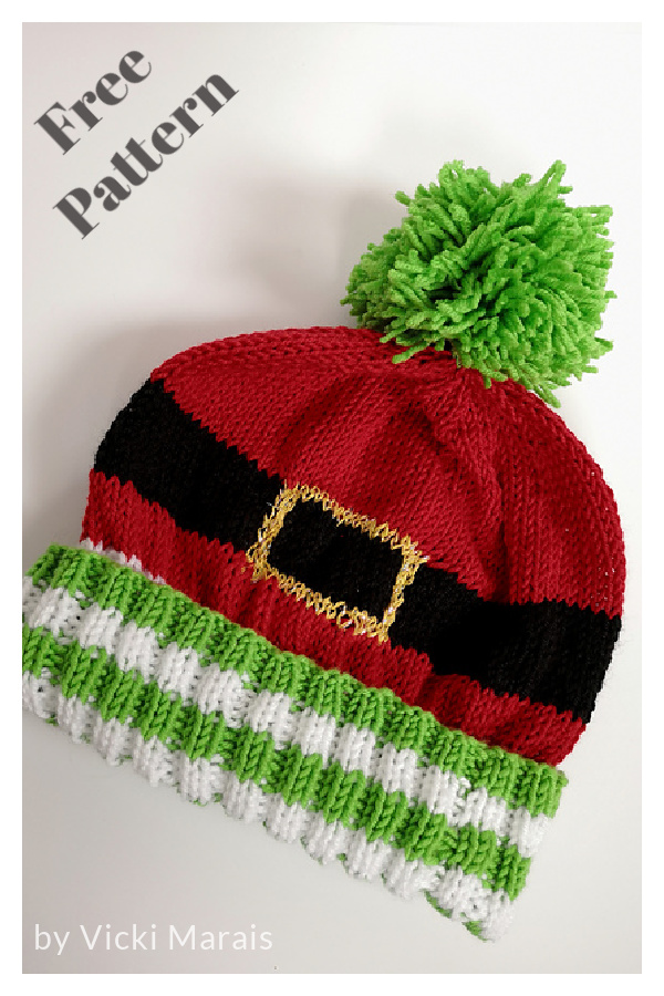 Ultimate Christmas Hat Free Knitting Pattern