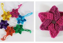 Woven Stars Free Knitting Pattern