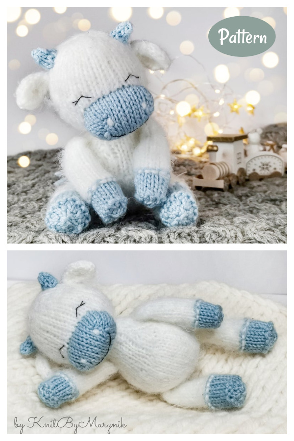 Amigurumi Cow Knitting Pattern