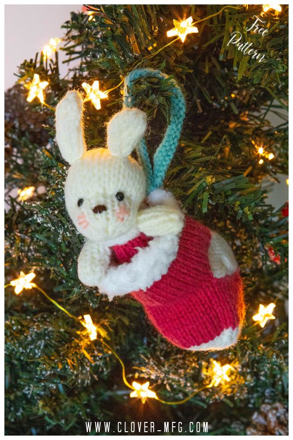 Bunny in a Stocking Free Knitting Pattern