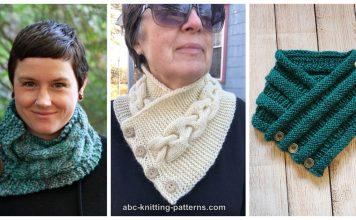 Cozy Button Cowl Free Knitting Pattern
