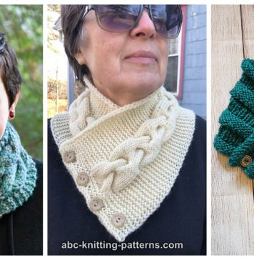 Cozy Button Cowl Free Knitting Pattern