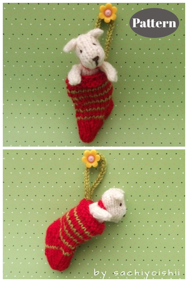 Dog in a Stock Knitting Pattern