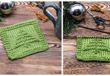 Easy Christmas Tree Coaster Free Knitting Pattern