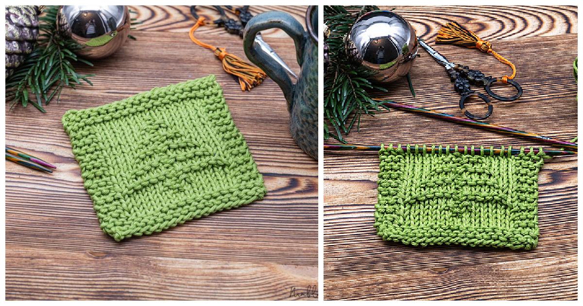 Christmas Tree Coaster Free Knitting Pattern