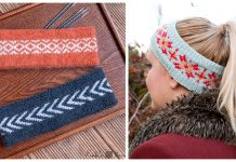 Fair Isle Headband Free Knitting Pattern