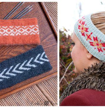 Fair Isle Headband Free Knitting Pattern