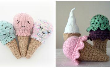 Ice Cream Free Knitting Pattern