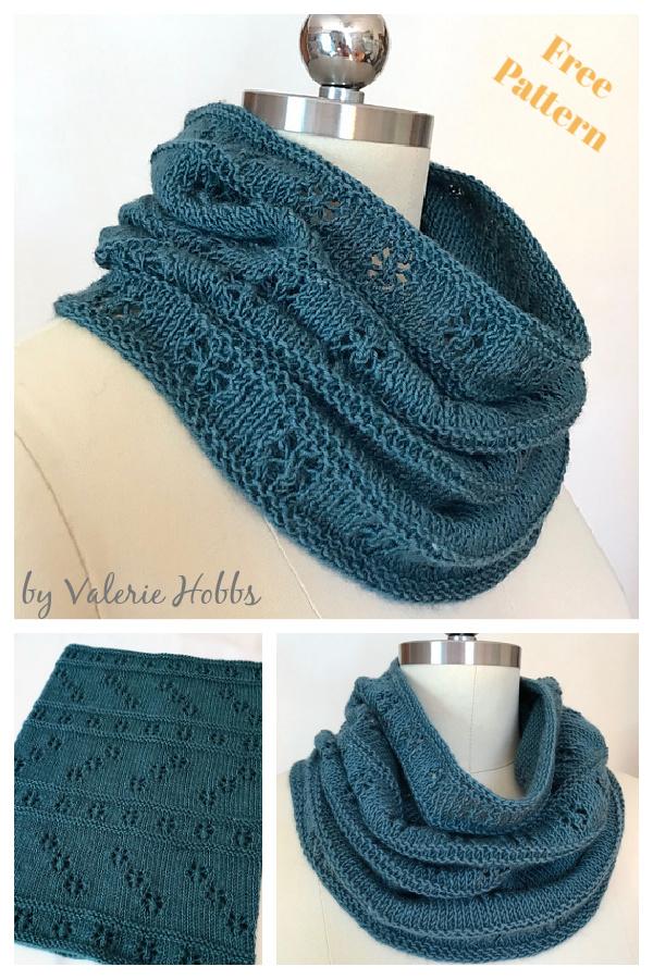 Meila Lace Cowl Free Knitting Pattern