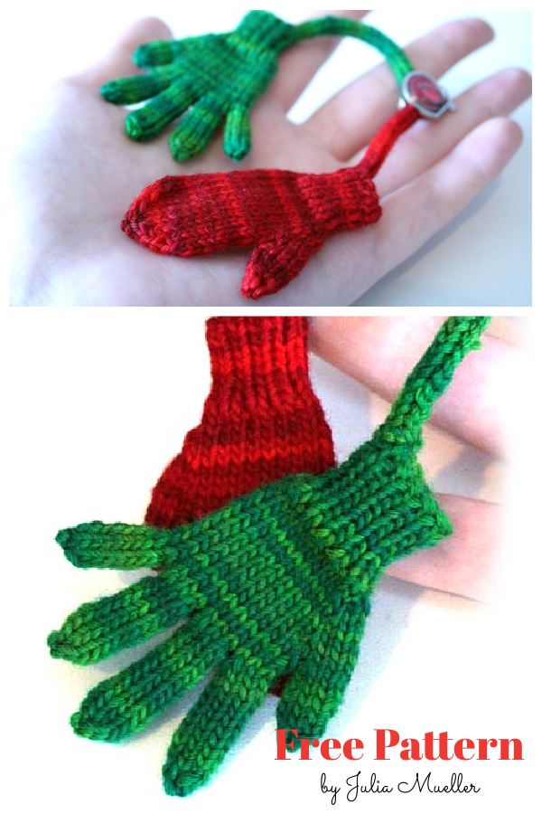 Mini-Me Mini Mittens Free Knitting Pattern