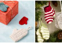 Mini Mitten Ornament Free Knitting Patterns