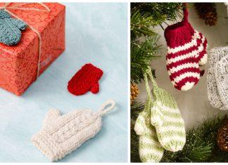 Mini Mitten Ornament Free Knitting Patterns