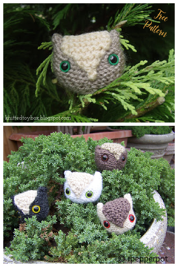 Owl Ornament Free Knitting Pattern