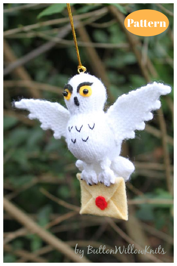 Owl Post Ornament Knitting Pattern