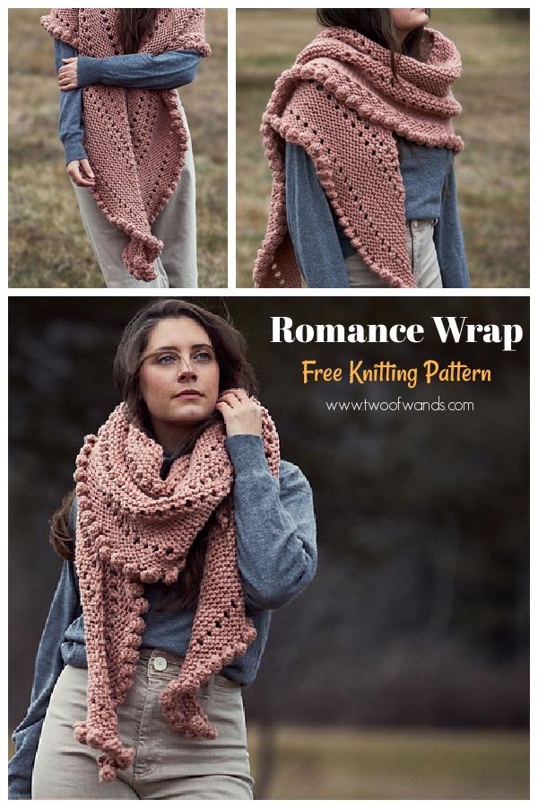 Romance Wrap Free Knitting Pattern