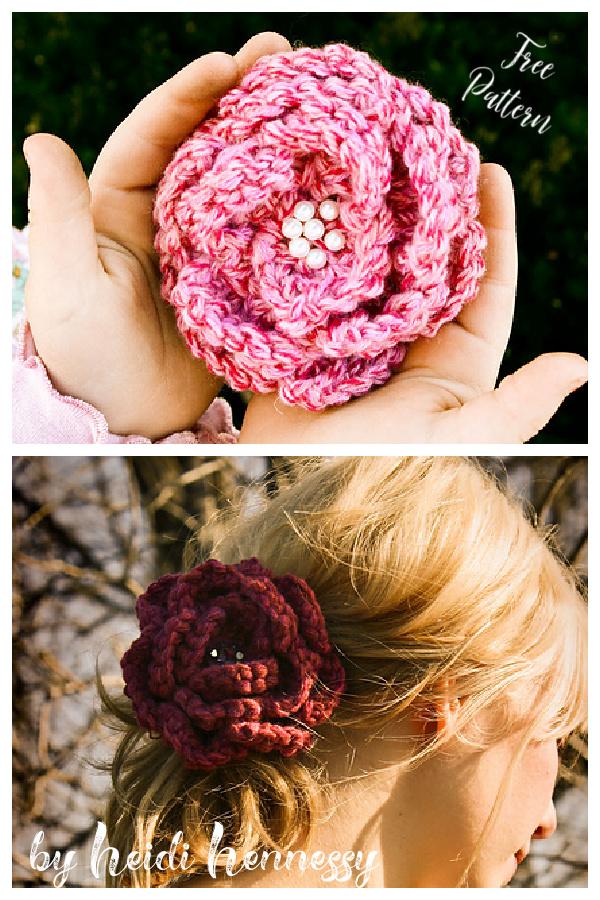 Rose Pin Free Knitting Pattern