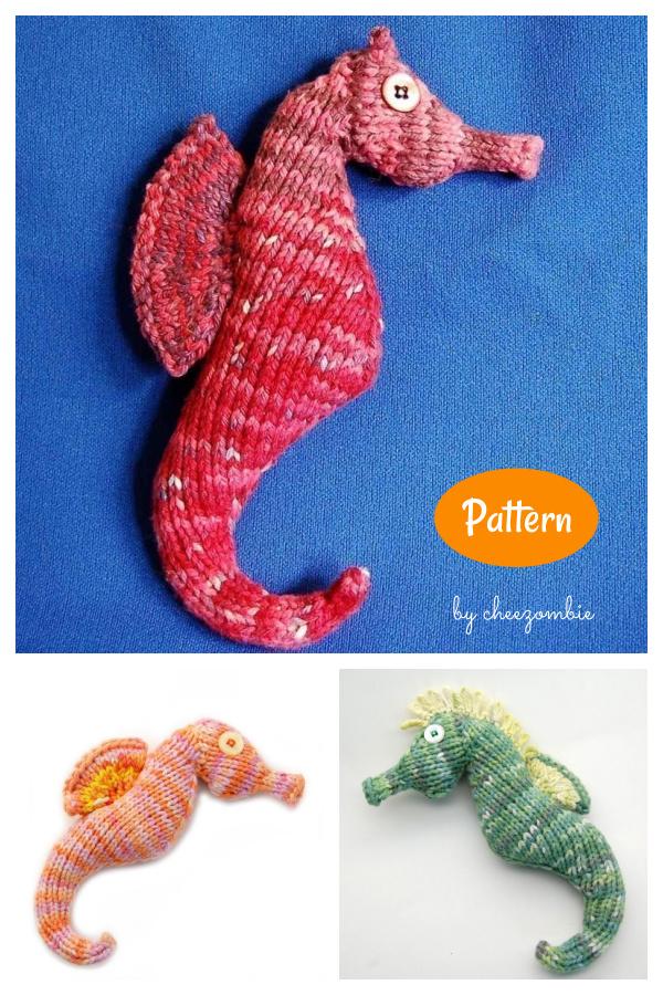 Seahorse Amigurumi Plush Toy Knitting Pattern