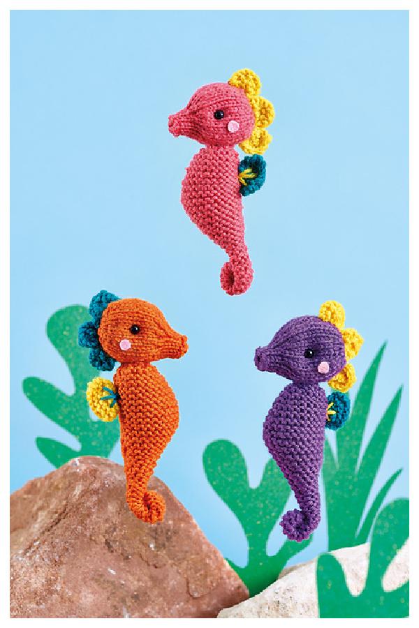 Serene Seahorses Free Knitting Pattern