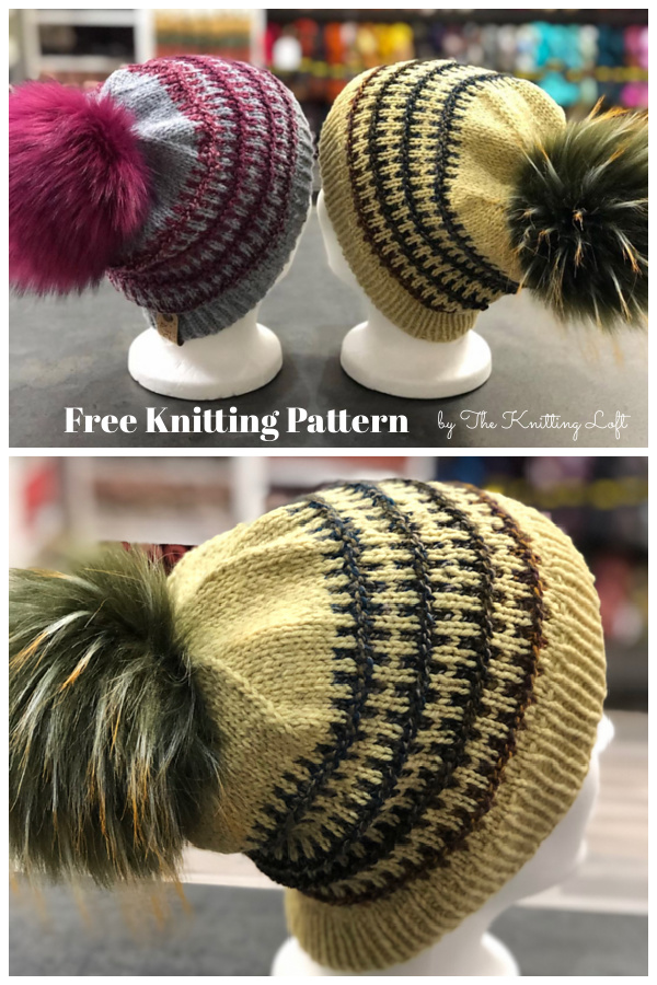 Simple Colourwork Hat Free Knitting Pattern