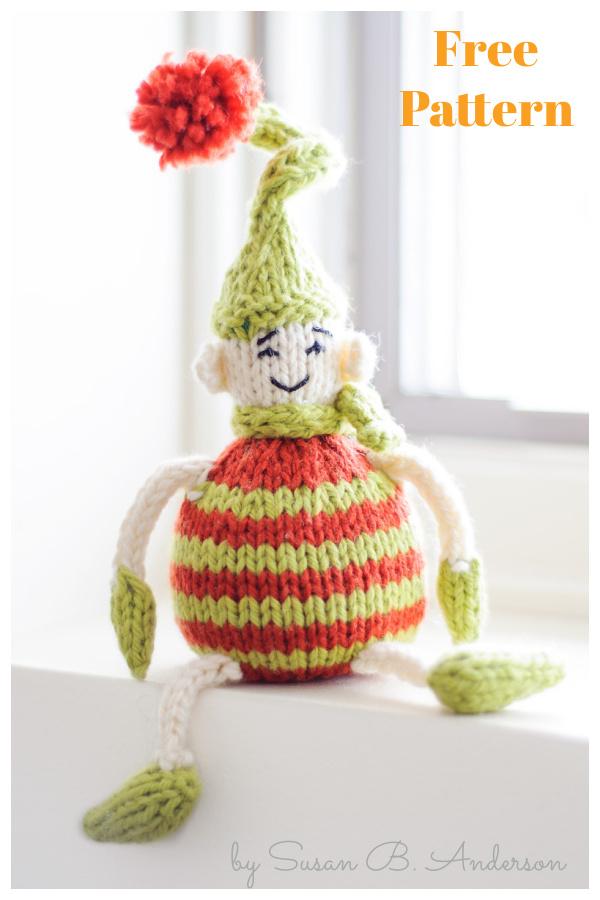 Tiny Elf Ornament Free Knitting Pattern