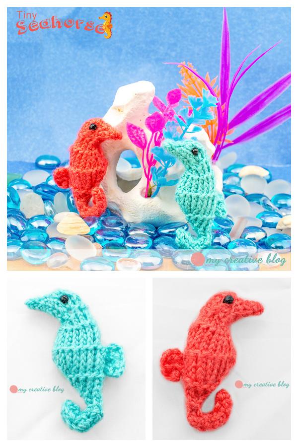 Tiny Seahorse Free Knitting Pattern