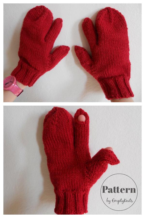 Trigger Finger Mittens Knitting Pattern