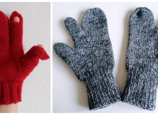 Trigger Finger Mittens Knitting Patterns