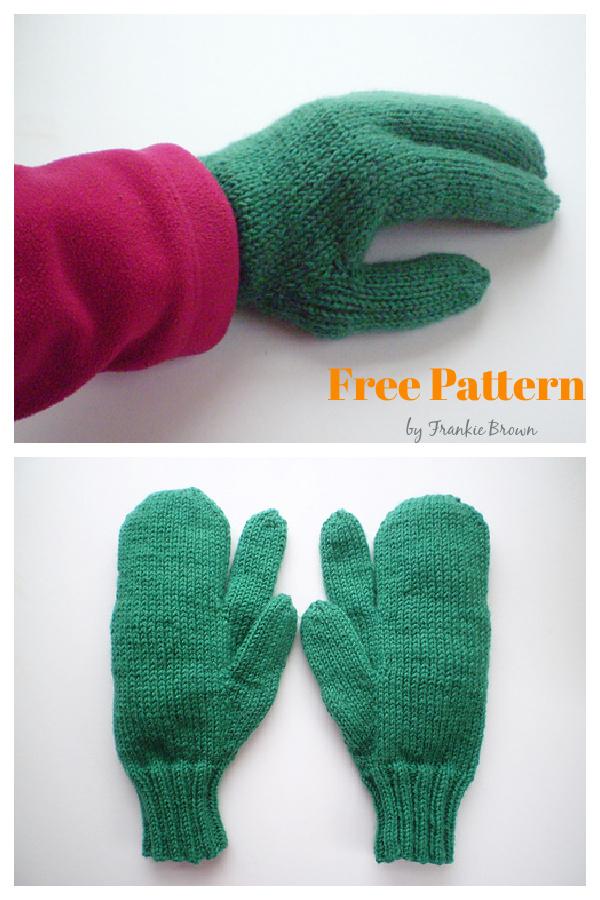 Trigger Mittens Free Knitting Pattern