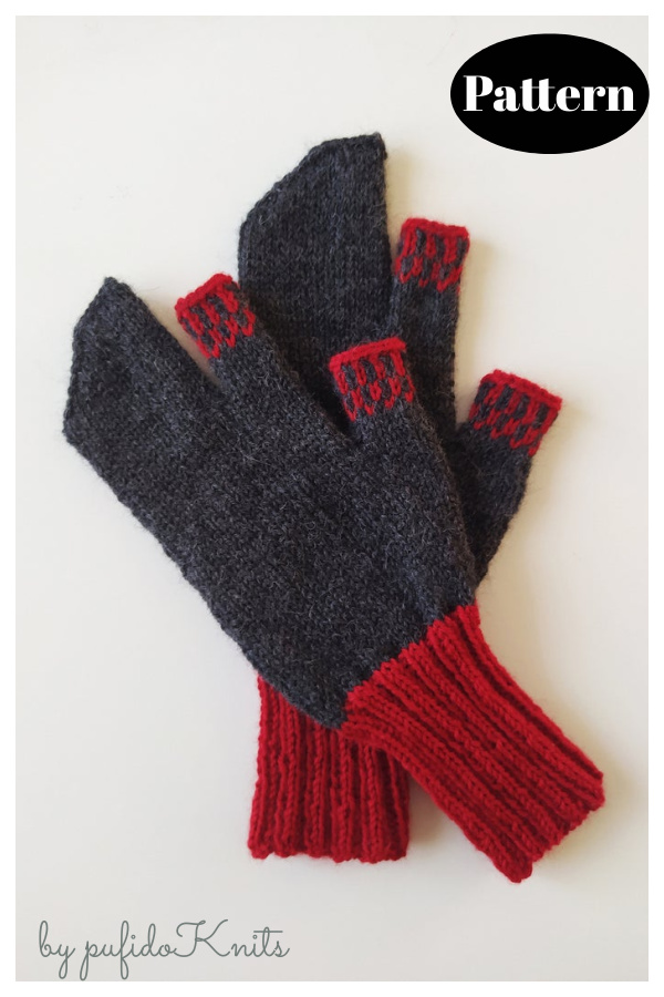 Trigger Mitts Knitting Pattern