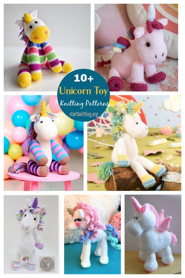 10+ Adorable Unicorn Toy Knitting Patterns