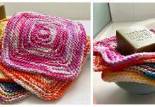 Around the Square Washcloth Free Knitting Pattern
