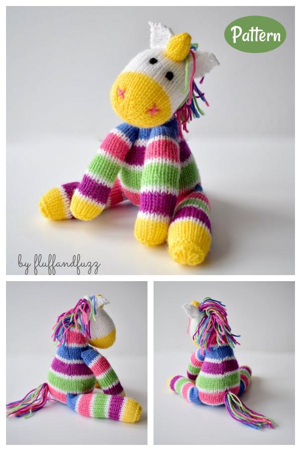 Aurora the Unicorn Toy Knitting Pattern