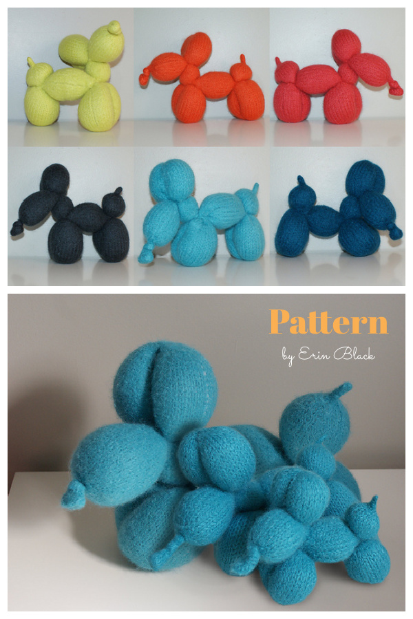 Balloon Dog Knitting Pattern